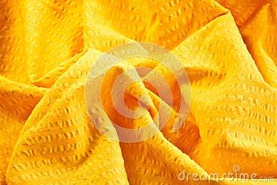 Bright yellow cotton fabric