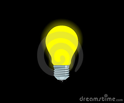 Bright Yellow Electric Lamp Royalty Free Stock Images ...