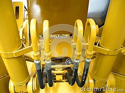 Bright Yellow Tractor Closeup Construction