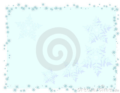 Brightly blue christmas card