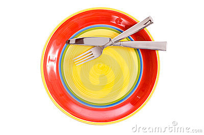 Brightly Colored Dinnerware Royalty Free Stock Photos - Image: 5769628