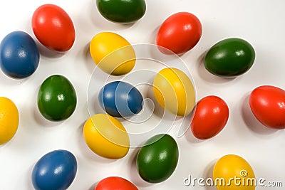 Brightly colored eggs