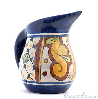 Brightly colored ewer
