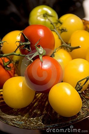 Brightly colored tomatoes