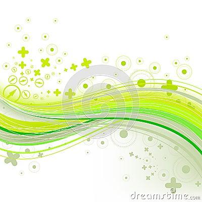 Brightly green