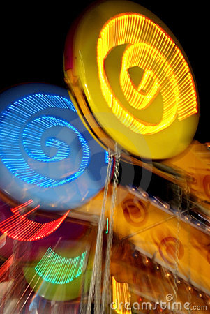 Free Brightly Lit Carnival Ride Royalty Free Stock Image - 15731336
