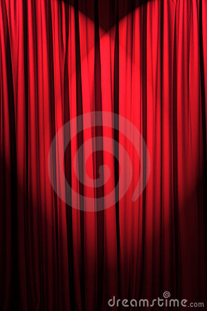 Brightly lit curtains - theatre concept