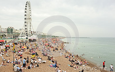 Brighton Beach, England Editorial Photography