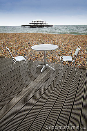 Brighton beach outside dining sussex england