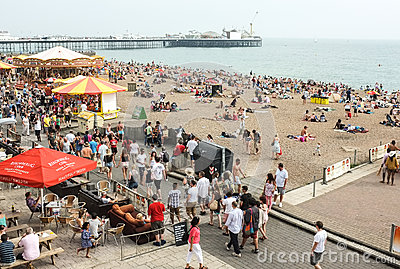 Brighton Beach and Pier, England Editorial Stock Image