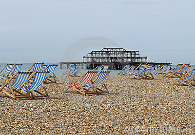 Brighton beach and Pier, Sussex