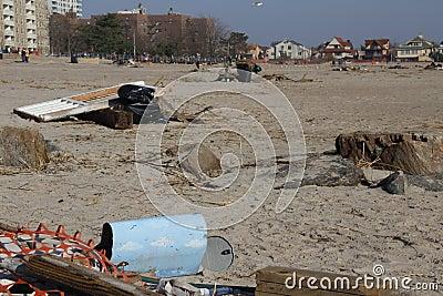 Brighton Beach post Sandy Editorial Image