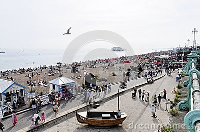 Brighton beach in summer Editorial Stock Image