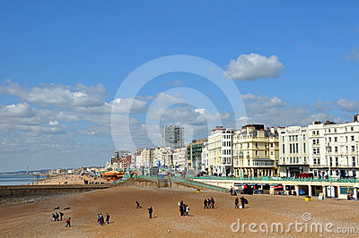 Brighton England - The Seafront in Spring Editorial Stock Image