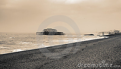 Brighton gammal pir