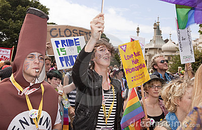 Brighton gay pride parade celebration Editorial Photography