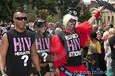 Brighton gay pride parade celebration Editorial Stock Image