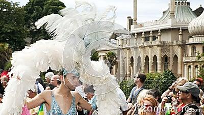 Brighton gay pride parade celebration Editorial Image