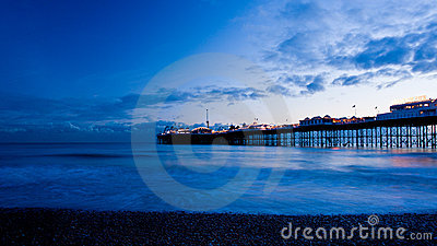 Brighton by night, England.