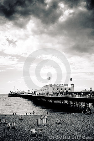 Brighton Palace Pier, high contrast