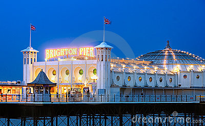 Brighton Pier, England Editorial Photography