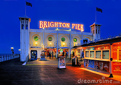 Brighton Pier, England Editorial Photo
