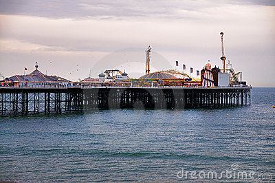 Brighton Pier in the evening Editorial Stock Image