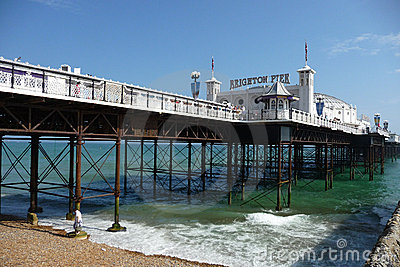 Brighton Pier On Hottest Day Of The Year