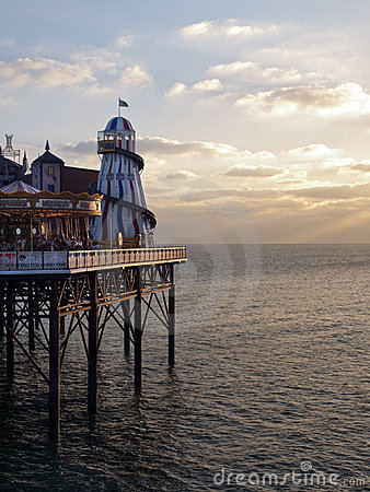Brighton pier seafront UK