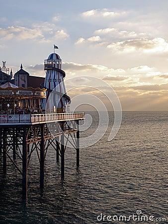 Brighton pier seafront UK