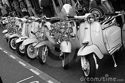 Brighton Scooters Editorial Stock Image