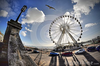 Brighton Seafront Editorial Stock Photo