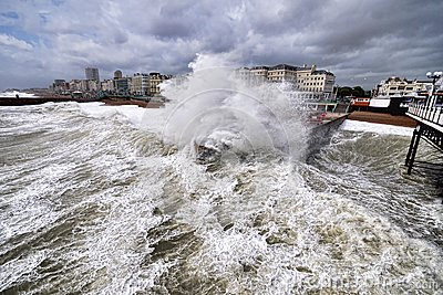 Brighton storm Editorial Photo
