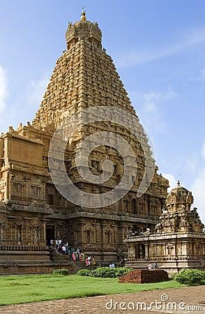 Brihadishvara Temple - Thanjavur - India Editorial Photo