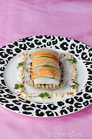 Brill wrapped in carrot