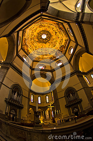 Free Brilliant Artistic Details On A Dome Of Santa Maria Del Fiore Cathedral In Florence, Tuscany Royalty Free Stock Image - 44138526