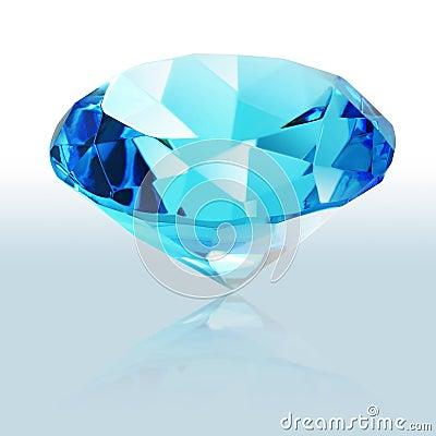 Brilliant blue shiny diamond