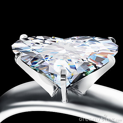 Brilliant cut heart diamond