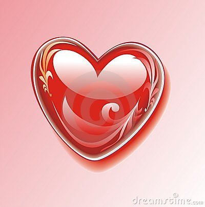 Brilliant heart with a decorative pattern