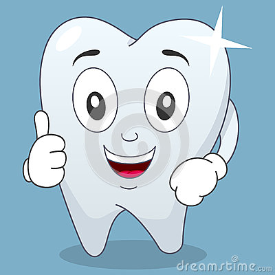 Brilliant Tooth Character with Thumbs Up