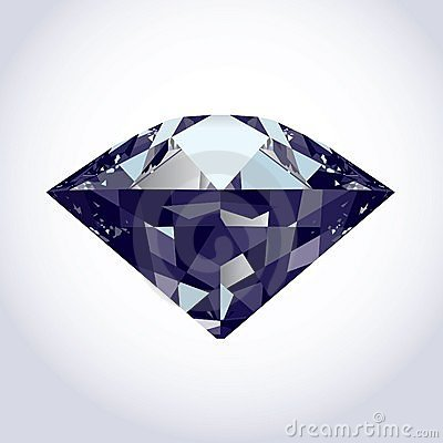 Brilliant vector diamond