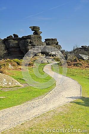 Brimham schaukelt Tal, britische Landschaft
