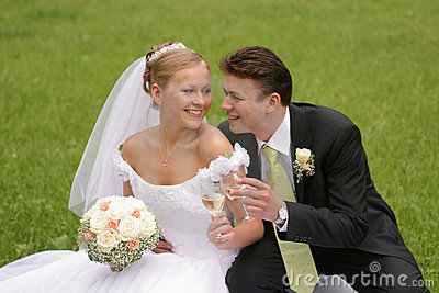 Brinde da noiva e do noivo