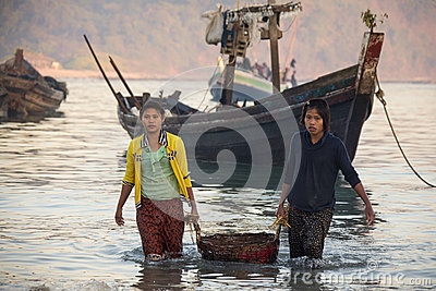 Fishing Village - Ngapali Beach - Myanmar (Burma) Editorial Photography
