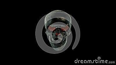 Brinnande skalle