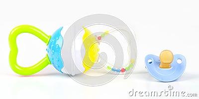Brinquedo e pacifier do chocalho