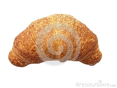Brioches on white background