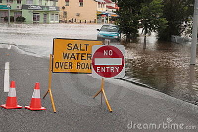 BRISBANE, AUSTRALIA - JAN 12 : Flood Editorial Stock Image