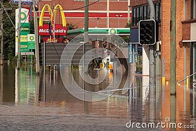 BRISBANE, AUSTRALIA - JAN 13 : Flood Editorial Image