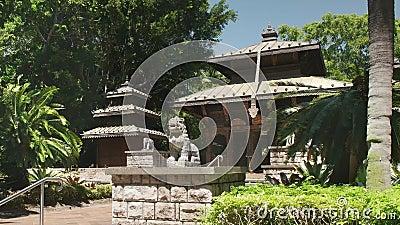 Brisbane, AUSTRALIEN-März, 7, 2017: der nepalesische Tempel am Südufer von Brisbane stock video